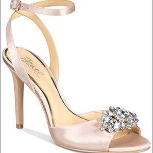 Jewel Badgley Mischka Hayden Embellished Sandals